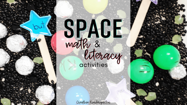 Math and literacy space activities for kindergarten. Have fun with these engaging centers while learning about stars and planets.