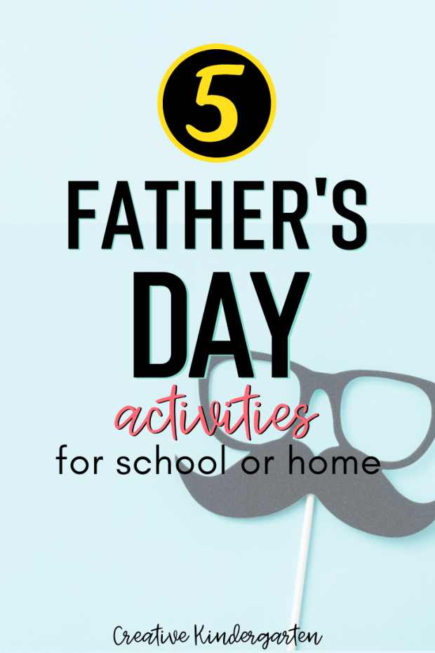 5 father's day activities that you can use at home or at school. These easy to do challenges cover math, literacy, STEM and art.