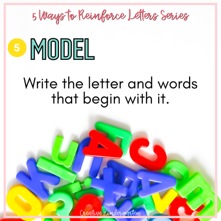 Teaching letters to kindergarten students is the first step to making them readers. Here are my 5 tips for reinforcing the alphabet in your classroom.