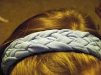 Top view of headband