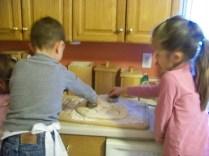 Kristi and Joshua helping as well.
