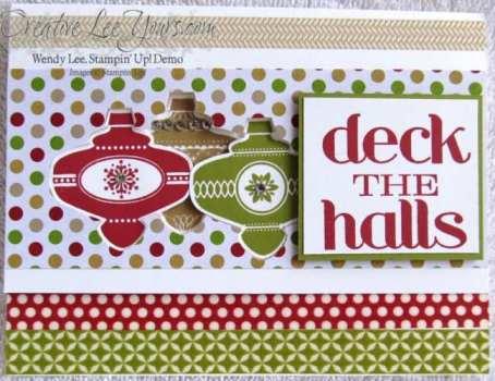 Deck the halls full card