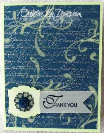 Bleached Thank You card
