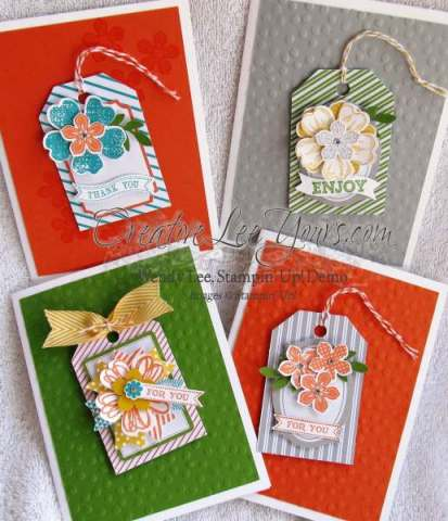 Tag card with flowers
