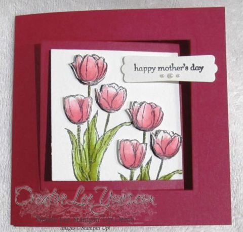 Tulip Mothers day card