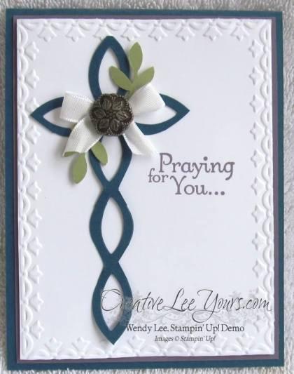 lattice cross card