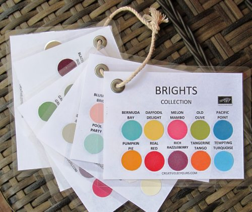 Color Charts by Wendy Lee, #creativeleeyours, Stampin' Up!, In Color