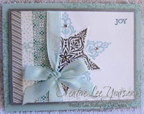 Bright & Beautiful by Wendy Lee, #creativeleeyours, Stampin Up!, Christmas Card, All is calm