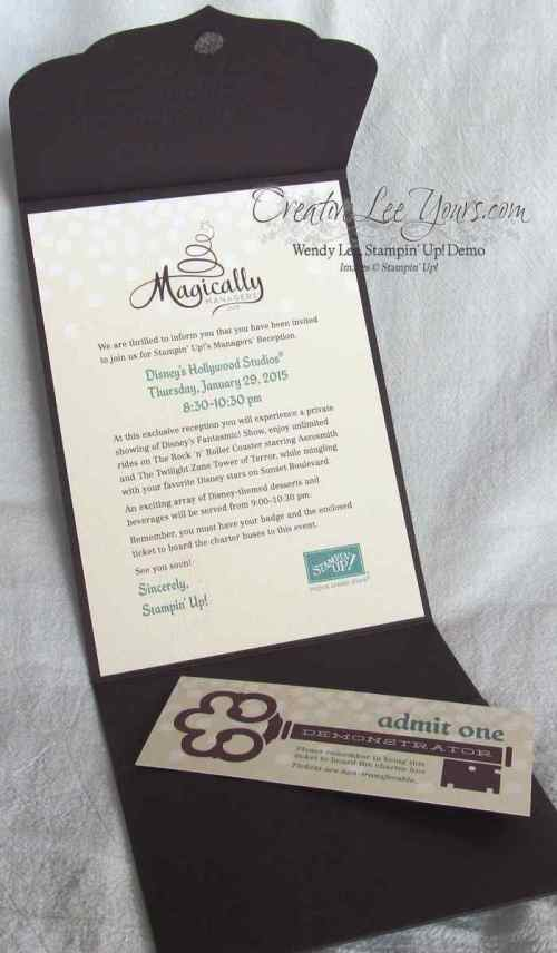 Stampin Up managers reception