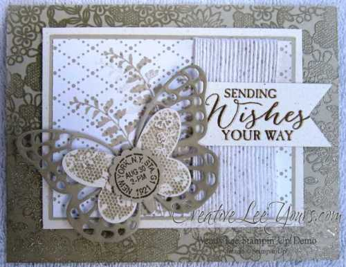 Lacy Butterfly by Wendy Lee, #creativeleeyours, Stampin' Up!, Something Lacy, Butterfly Basics, Card