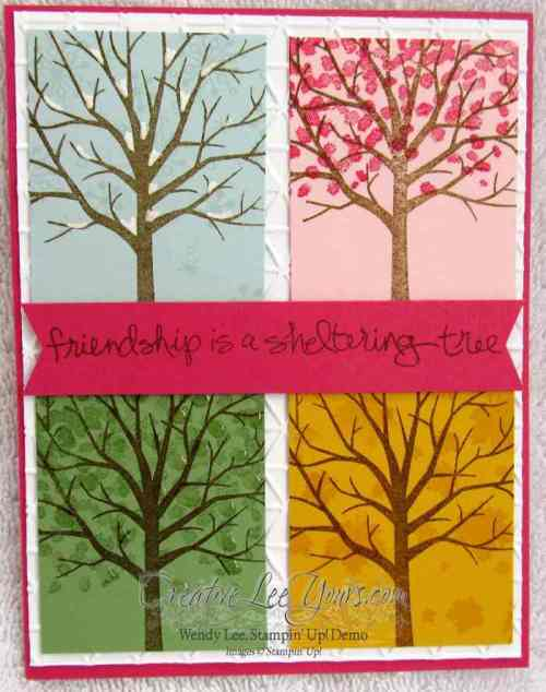 Seasonal Sheltering Tree by Zoe Williams, #creativeleeyours, Stampin' Up!, card