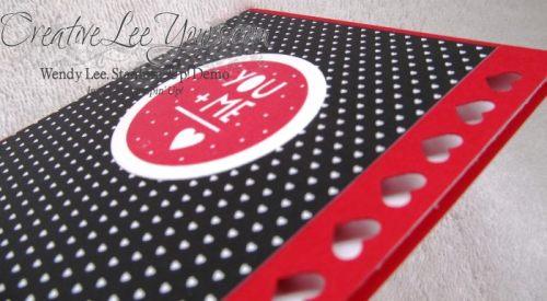 You Plus Me by Jennifer Moretz, #creativeleeyours, Stampin' Up!, Valentine Card