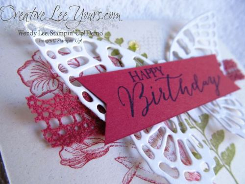 Happy Birthday Butterfly Basics by Wendy Lee, #creativeleeyours, Stampin' Up!