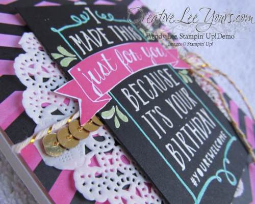 Balloon Bash Birthday by Wendy Lee, #creativeleeyours, Stampin' Up!, February FMN class, Ombre card