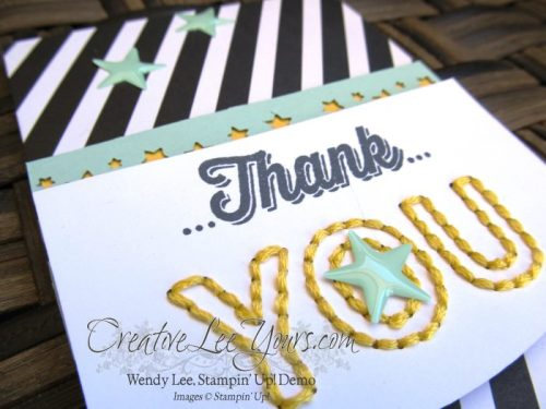 March 2015 Sew You Paper Pumpkin by Wendy Lee, #creatoveleeyours, Stampin' Up!, card