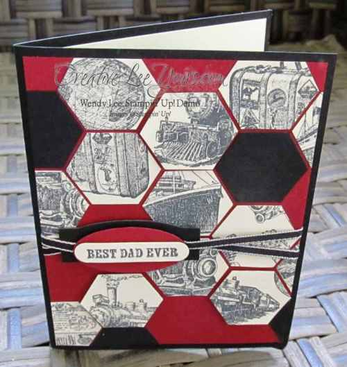 Traveler Fathers Day by Wendy Lee, #creativeleeyours, Stampin' Up!, May 2015 FMN class