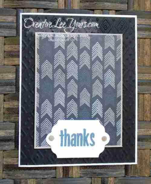 Thanks Paper Pumpkin Bonus Card by Wendy Lee, #creativeleeyours, Stampin' Up!, August FMN class