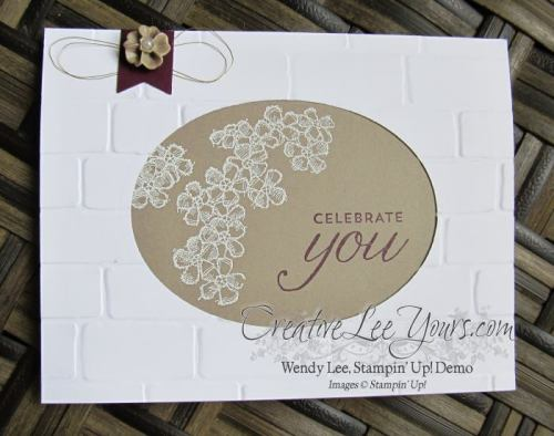 Celebrate You by Zoe Williams, #creativeleeyours, Stampin' Up!, Diemonds team swap, Birthday Blossoms stamp set