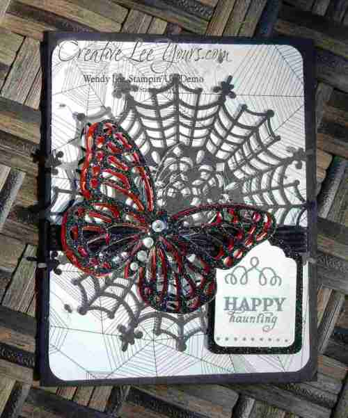 Spooky Butterfly by Candy Combs, #creativeleeyours, Stampin' Up!, Halloween
