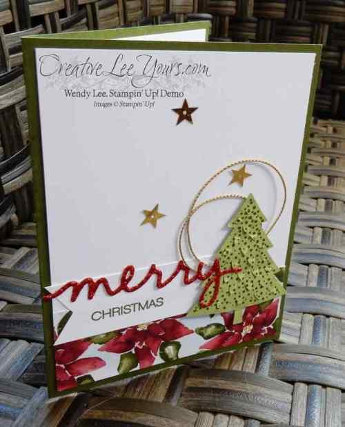 Peaceful Pines September 2015 Diemonds team mtg by Wendy Lee, #creativeleeyours, Stampin' Up!, Christmas Card
