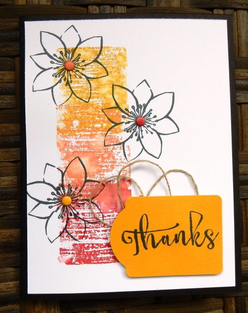 Blissful Bouquet Thanks by Wendy Lee, #creativeleeyours, Stampin' Up!, paper pumpkin
