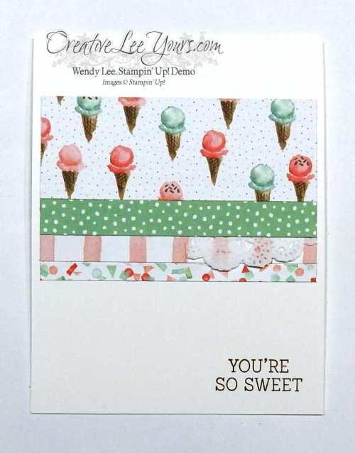 You're So Sweet by Wendy Lee, Honeycomb Happiness, #creativeleeyours, Stampin' Up!, Diemonds team swap