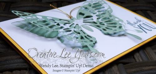 Artistic Butterfly by Betsy Batten, #creativeleeyours, Stampin' Up!, diemonds team swap,butterflies thinlits