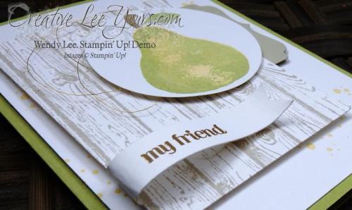 My Friend by Wendy Lee, #creativeleeyours, Apple of my eye stamp set, Stampin' Up!, Diemonds team meeting