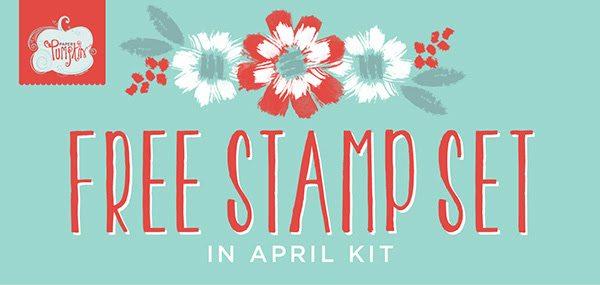 FREE Stamp Set, Paper Pumpkin April 2016, #creativeleeyours, Stampin' Up!