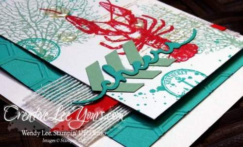By the tide cheers by Wendy Lee, #creativeleeyours, Stampin' Up!, May 2016 FMN class, masculine, fathers day, birthday, gorgeous grunge