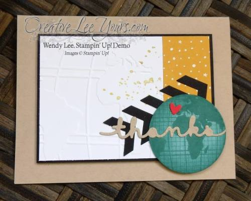 Global Thanks by Wendy Lee, #creativeleeyours, Stampin' Up!, Going Global stamp set, masculine card
