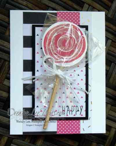 Swirly Lolipop Birthday by Wendy Lee, Swirly Bird stamp set, Stampin Up, Stamping, #creativeleeyours, birthday card