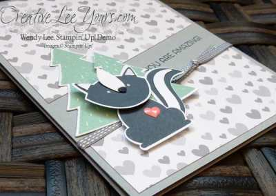 You are amazing by Wendy Lee, Stampin Up, stamping, #creativeleeyours, hand made card, foxy friends stamp set