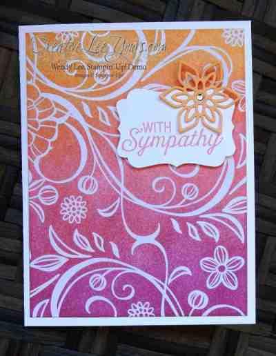 Flourish Sympathy by Wendy Lee, Stampin Up, Stamping, #creativeleeyours, Flourishing Phrases stamp set, Flourish thinlits