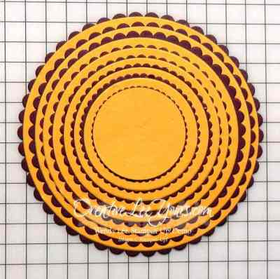 Layering Circles by Wendy Lee, Stampin Up, framelits, #creativeleeyours