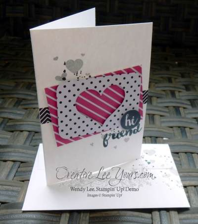 Hi Friend by Wendy Lee, Stampin Up, stamping, Oh Happy Day stamp set, Georgeous Grunge stamp set, Perpetual Birthday Calendar stamp set,June 2015 Paper Pumpkin Happy Thoughts, #creativeleeyours, July 2016 FMN class
