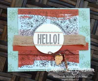 august 2016 bold botanicals paper pumpkin kit by Wendy Lee, Stampin Up, #creativeleeyours