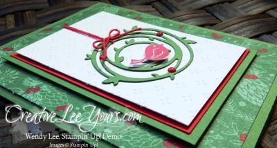 Swirly Bird Christmas by Wendy Lee, Swirly Scribbles, Swirly Bird stamp set, Stampin Up, #creativeleeyours, October 2016 FMN class