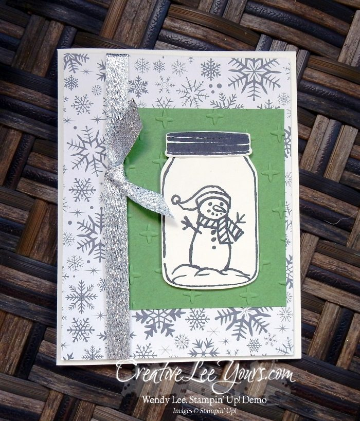 Snowman Jar by Christi Smith,Jar of Love stamp set, jar of cheer stamp set, everyday jars framelits, stampin up, #creativeleeyours, christmas, hand made card, diemonds team swap