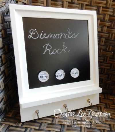 diemonds gifts by wendy lee, stampin up, #creativeleeyours, #onstage2016, hand stamped roomie gifts