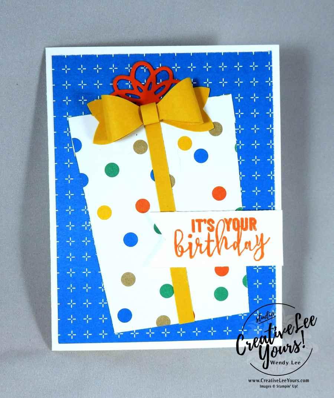 It's Your Birthday Present by Wendy Lee, Stampin Up, #creativeleeyours, Diemonds team meeting,Balloon Adventures stamp set, balloon pop-up thinlits