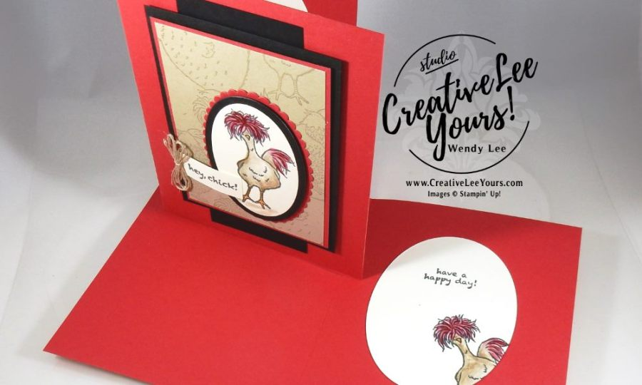 Hey Chick by Wendy Lee, Stampin Up, #creativeleeyours, Hey Chick, #SAB2017, hand made card, Diemonds team swap