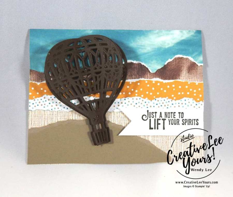 Lift Your Spirits by Nancy Phillips, Wendy Lee, Stampin Up, #creativeleeyours, Lift me up stamp set, Up & Away thinlits, diemond team meeting