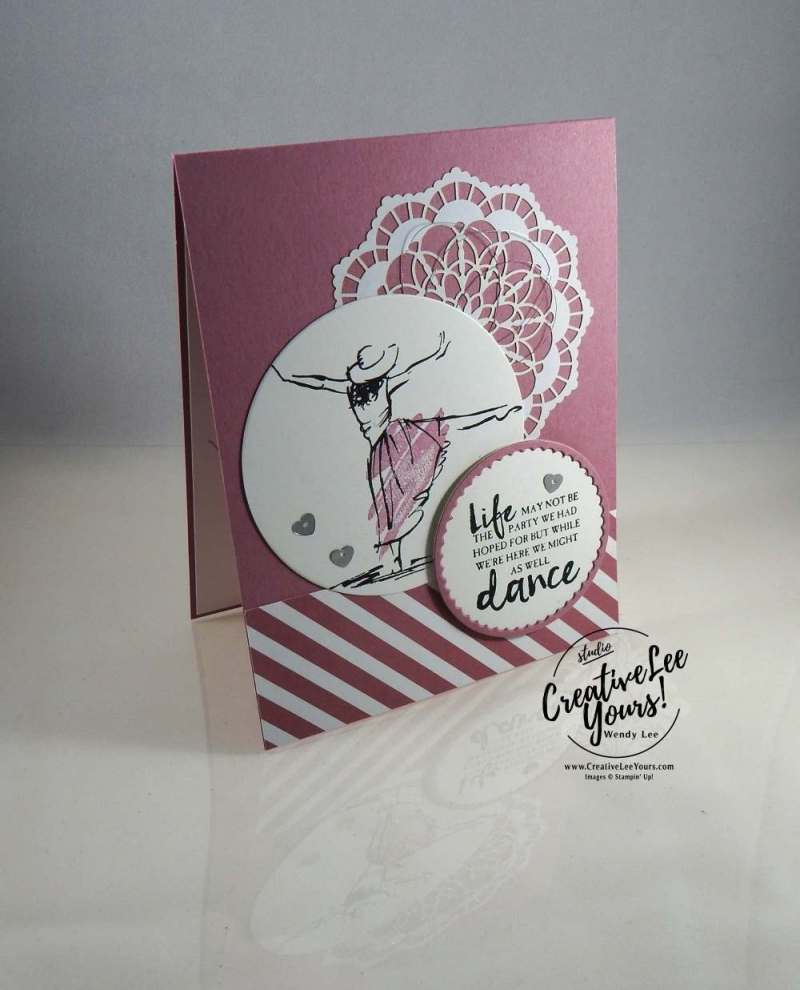 Beautiful You Dance by Sheila Tatum, Stampin Up, #creativeleeyours, creatively yours, diemonds team swap, beautiful you stamp set, layering circles framelits, Wendy Lee,cardmaking,hand made card, rubber stamps, stamping