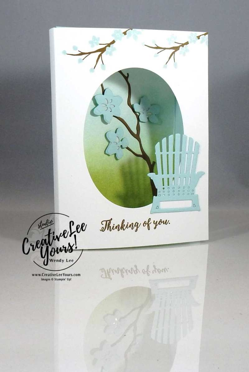 Lovely Shadowbox by Stephanie Daniel, diemonds team meeting, Stampin Up, #creativeleeyours, creatively yours, handmade card, rubber stamps, stamping, colorful seasons stamp set, seasonal layers framelits