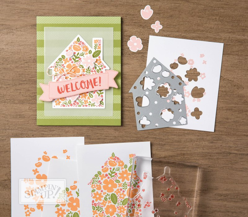 Stampin Up Home Life Photopolymer Stamp Set & Welcome Home Framelits Dies, #creativeleeyours, wendy lee, rubber stamps, stamping,handmadecards, video
