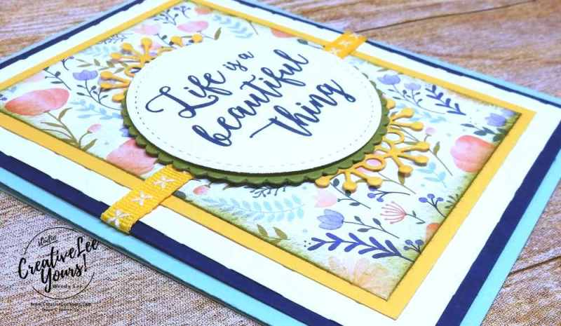 life is a beautiful thing by Belinda Rodgers,stampin up,wendy lee,#creativeleeyours, creatively yours, stamping, handmade,paper crafts,colorful seasons stamp set, thank you, teacher,secretary