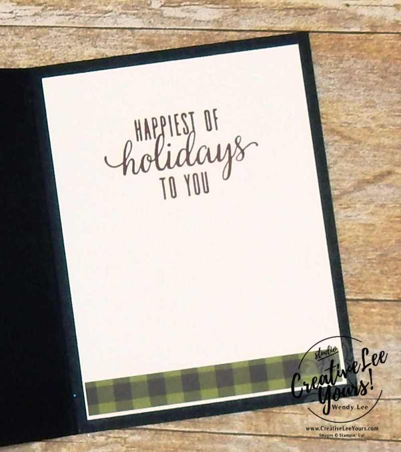 Window shaker,October 2017 Pining For Plaid Paper Pumpkin Kit by wendy lee, christmas cards, handmade, stamping, masculine, Stampin Up,#creativeleeyours, creatively yours, fast and easy, simple