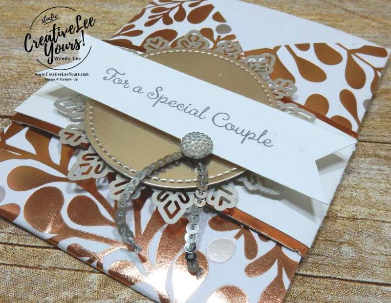 Tri-Fold Pocket Wedding by Wendy Lee,stamping, handmade, special celebrations stamp set,stitched shapes Framelits,fun fold,,november 2017 fmn class,#creativeleeyours, creatively yours,stampin up,wedding