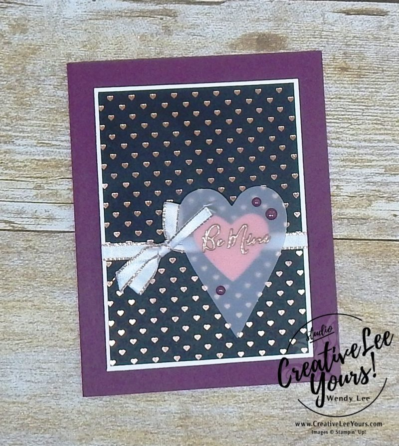 January 2018 Paper Pumpkin Heartfelt Love Notes Kit with Wendy Lee, #creativeleeyours, creatively yours, creative-lee yours, stampin up, stamping, SU,SU cards, handmade, treat pouch, valentine,love note, fast and easy cards